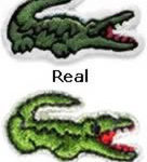 Lacoste Patch Comparison