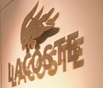 Gold Lacoste Crocodile