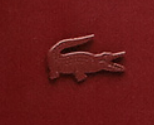Red Leather Lacoste Logo